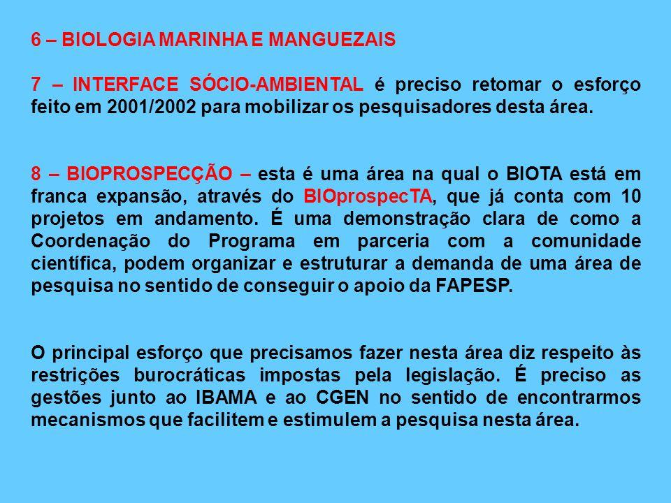 6 – BIOLOGIA MARINHA E MANGUEZAIS