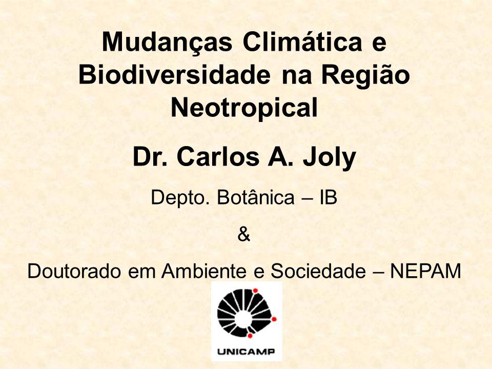 Mudanças Climática e Biodiversidade na Região Neotropical