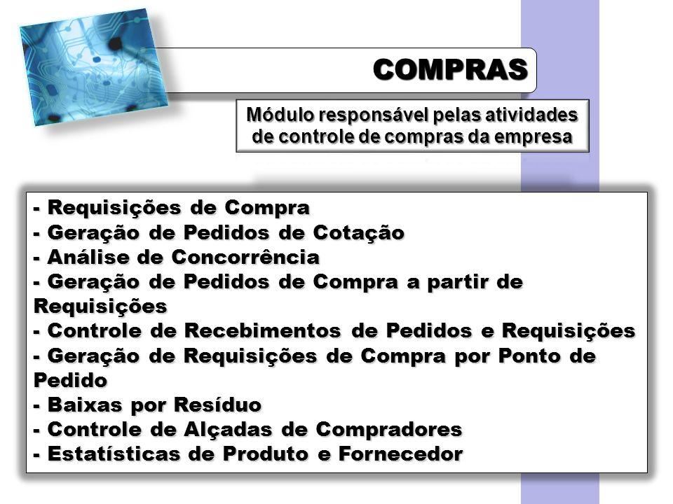Módulo responsável pelas atividades de controle de compras da empresa