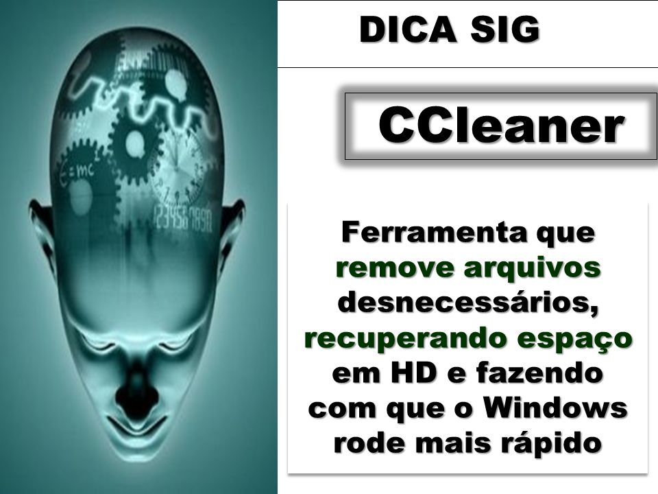 DICA SIGCCleaner.