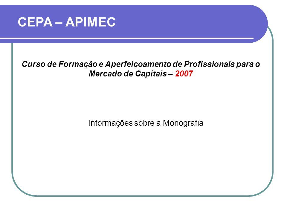 Informações sobre a Monografia