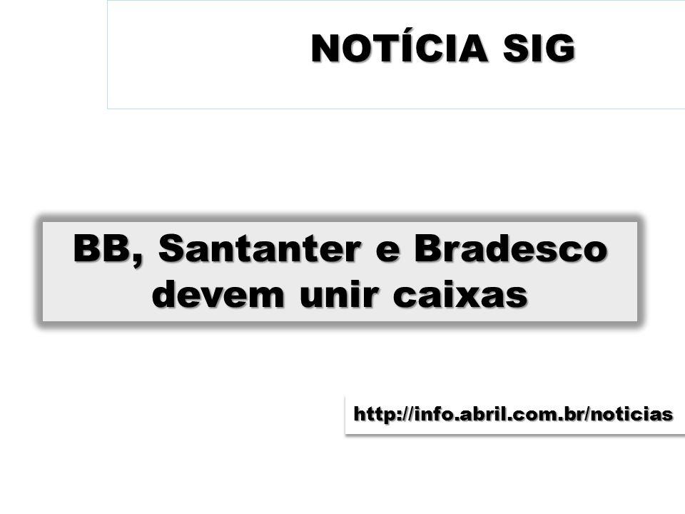 BB, Santanter e Bradesco devem unir caixas