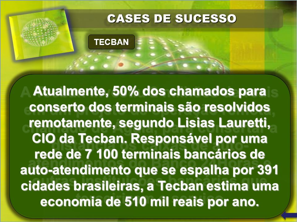 CASES DE SUCESSO TECBAN.