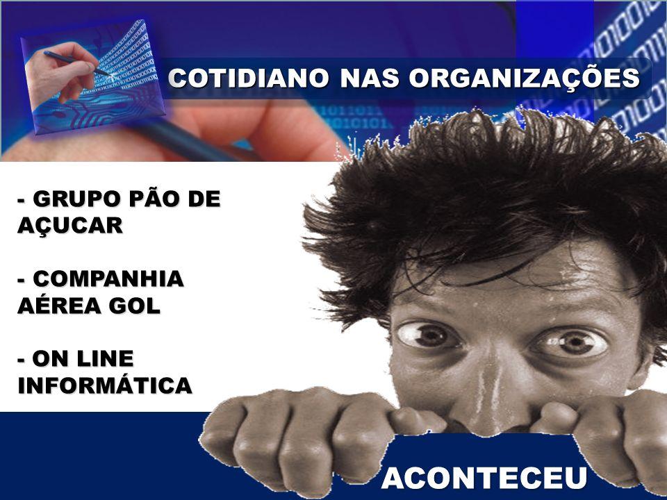 COTIDIANO NAS ORGANIZAÇÕES COMUNICAÇÃO INTERNA / EXTERNA