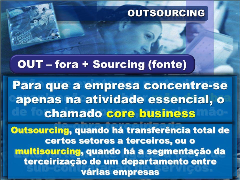 Está fortemente ligada a idéia de sub-contratação de serviços.