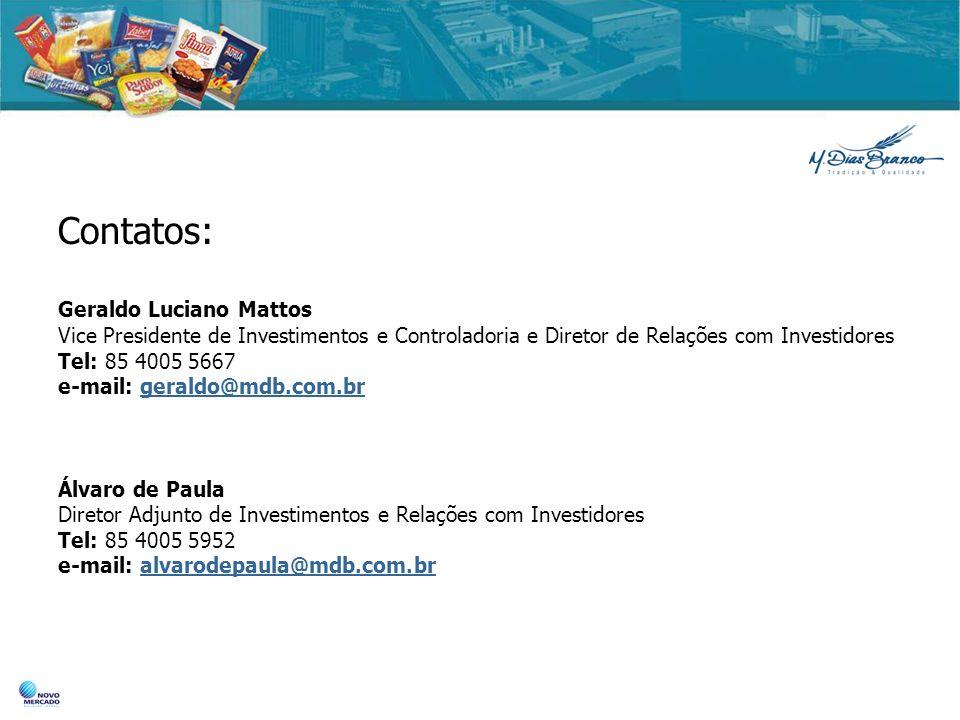 Contatos: Geraldo Luciano Mattos