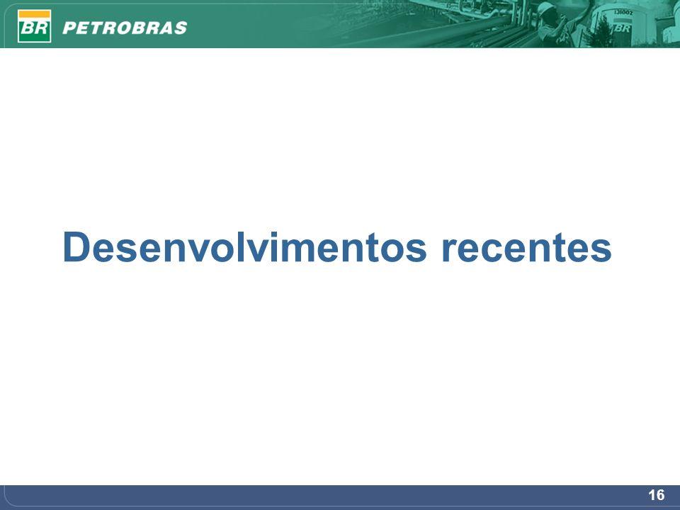  Principais projetos no E&P Brasil em 2007