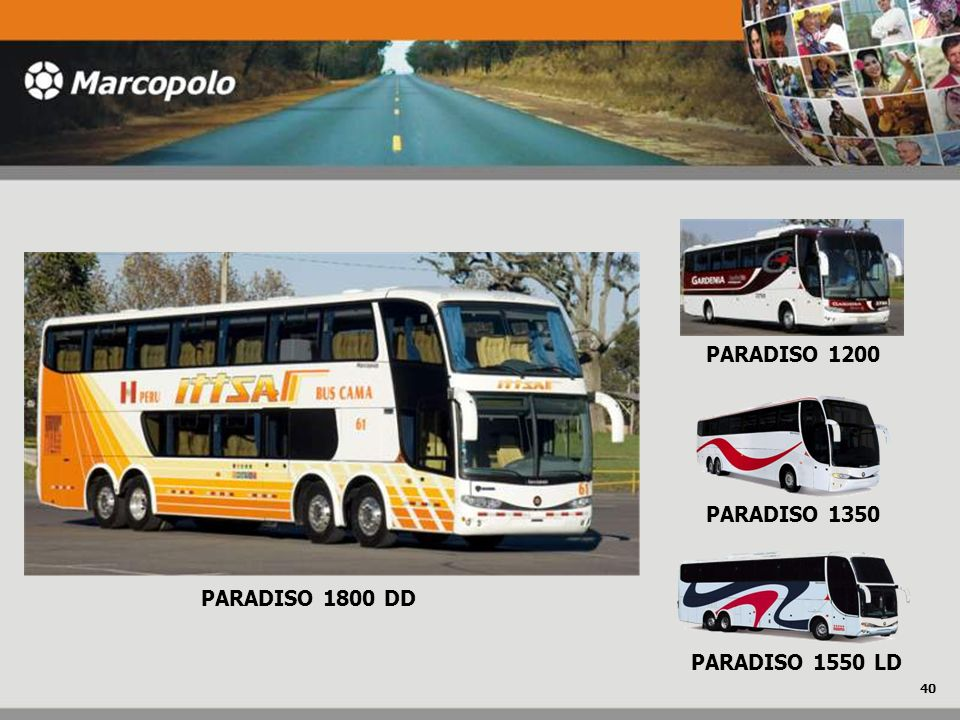 PARADISO 1200 PARADISO 1350 PARADISO 1800 DD PARADISO 1550 LD