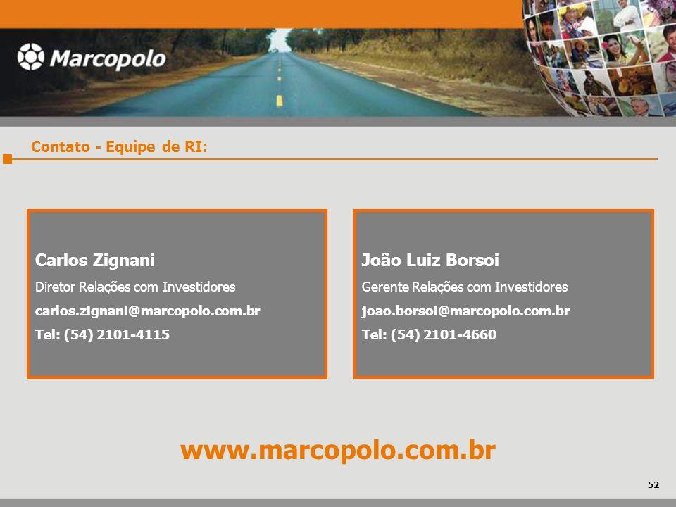 www.marcopolo.com.br Carlos Zignani João Luiz Borsoi