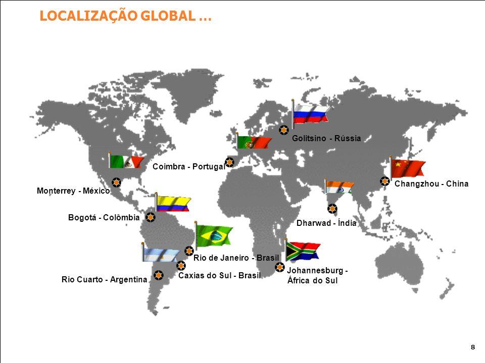 LOCALIZAÇÃO GLOBAL … Golitsino - Rússia Coimbra - Portugal