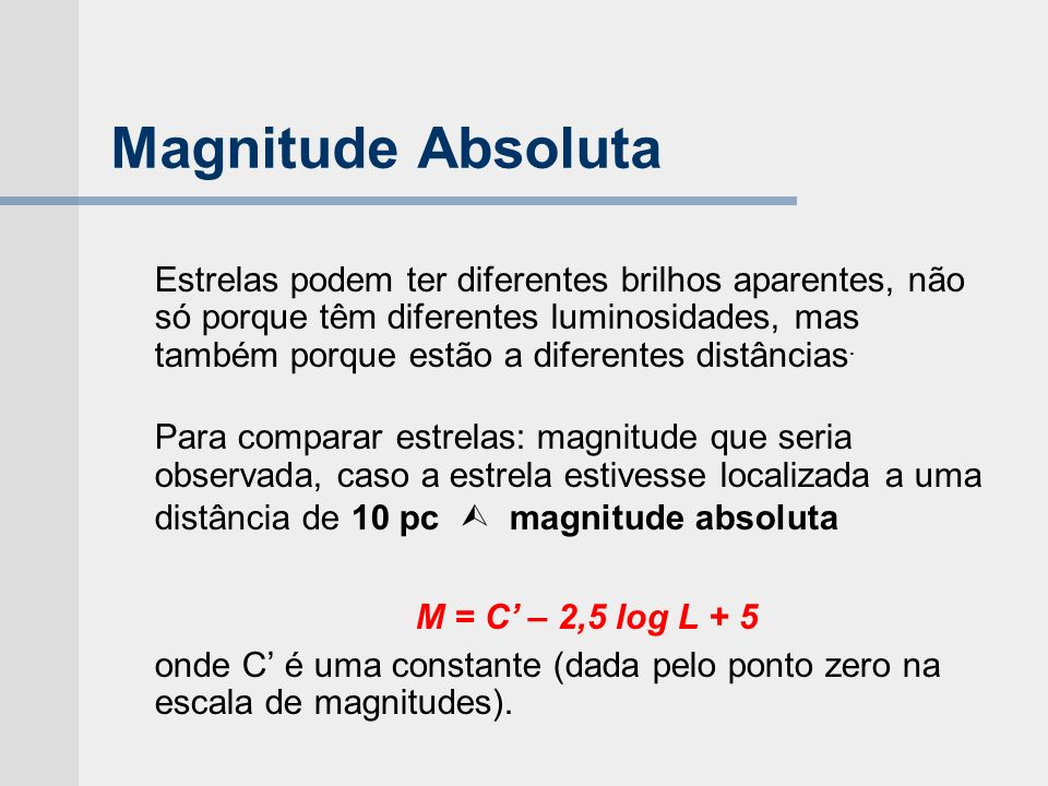 Magnitude Absoluta