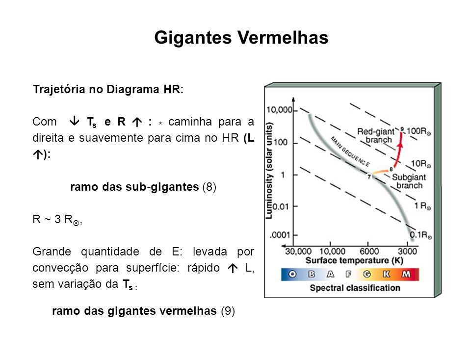 Gigantes Vermelhas Trajetória no Diagrama HR: