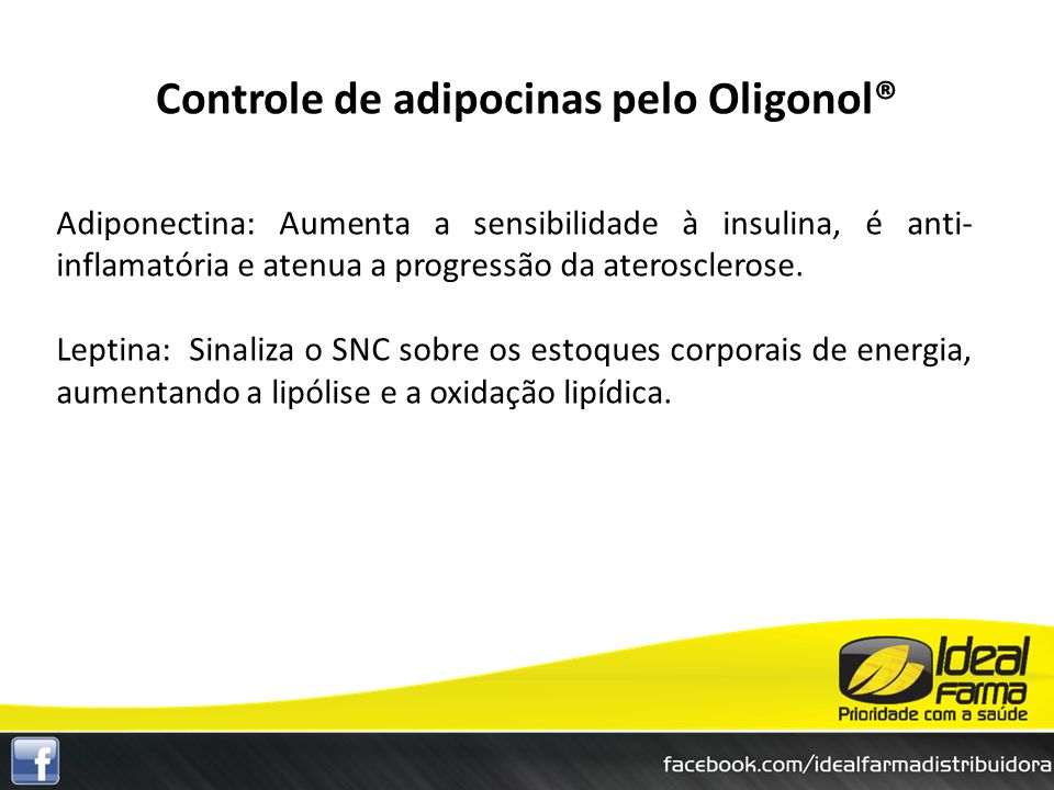 Controle de adipocinas pelo Oligonol®