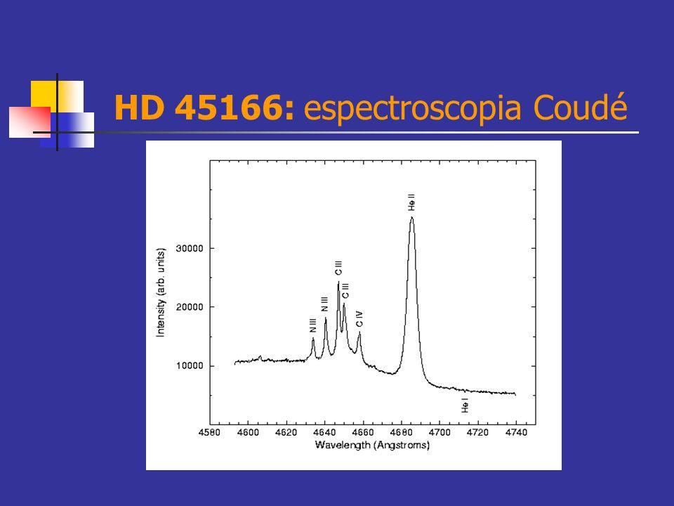 HD 45166: espectroscopia Coudé