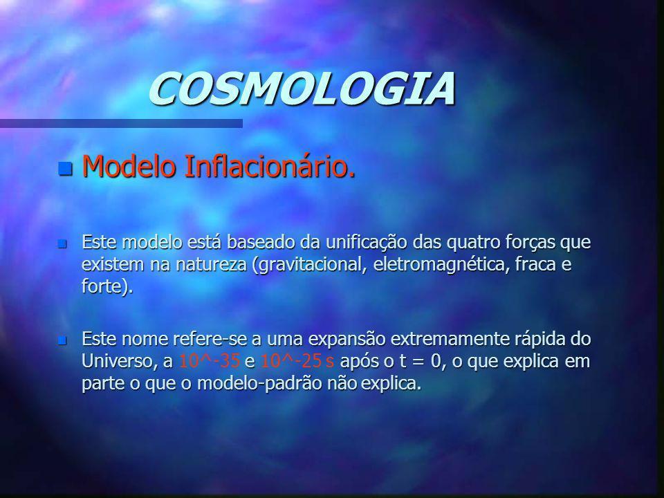 COSMOLOGIA Modelo Inflacionário.