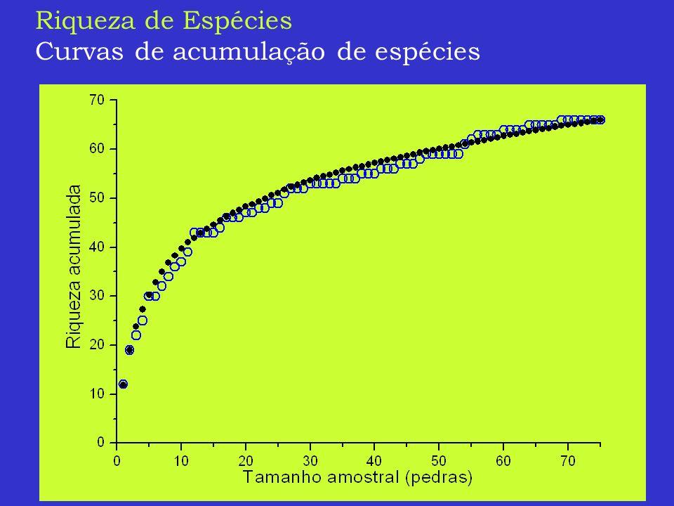Riqueza de Espécies Curvas de acumulação de espécies
