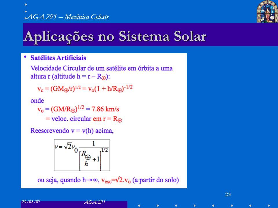 Aplicações no Sistema Solar
