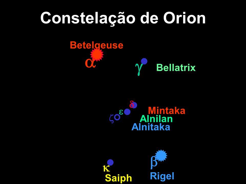 a g Constelação de Orion b k Betelgeuse Bellatrix d e Mintaka z