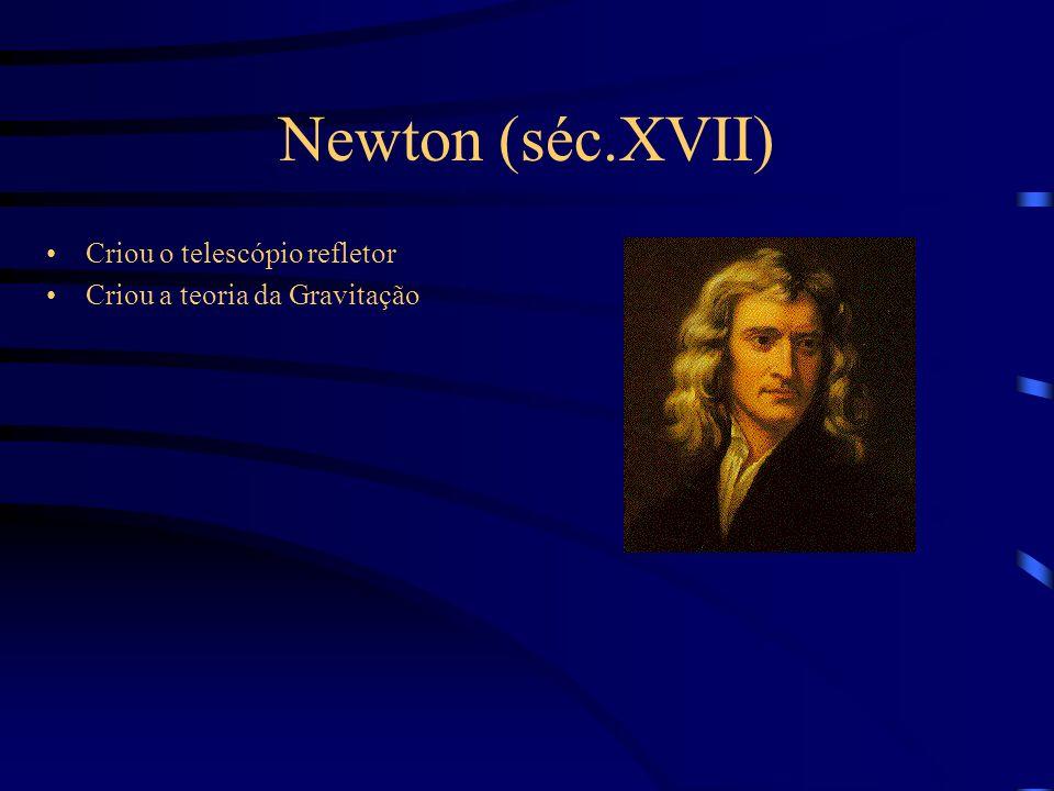 Newton (séc.XVII) Criou o telescópio refletor