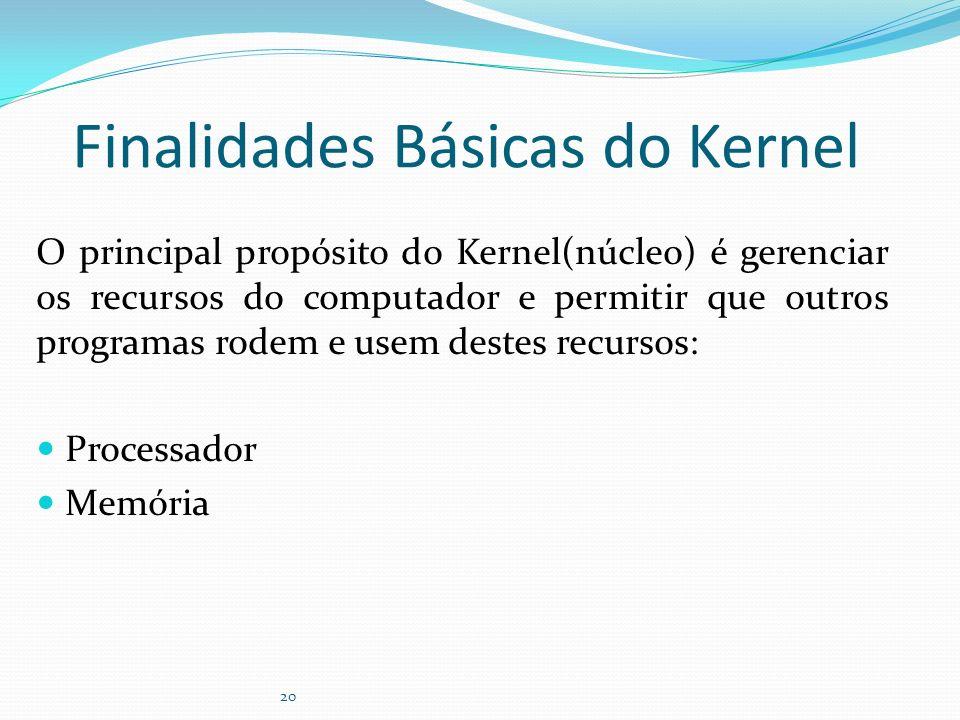 Finalidades Básicas do Kernel