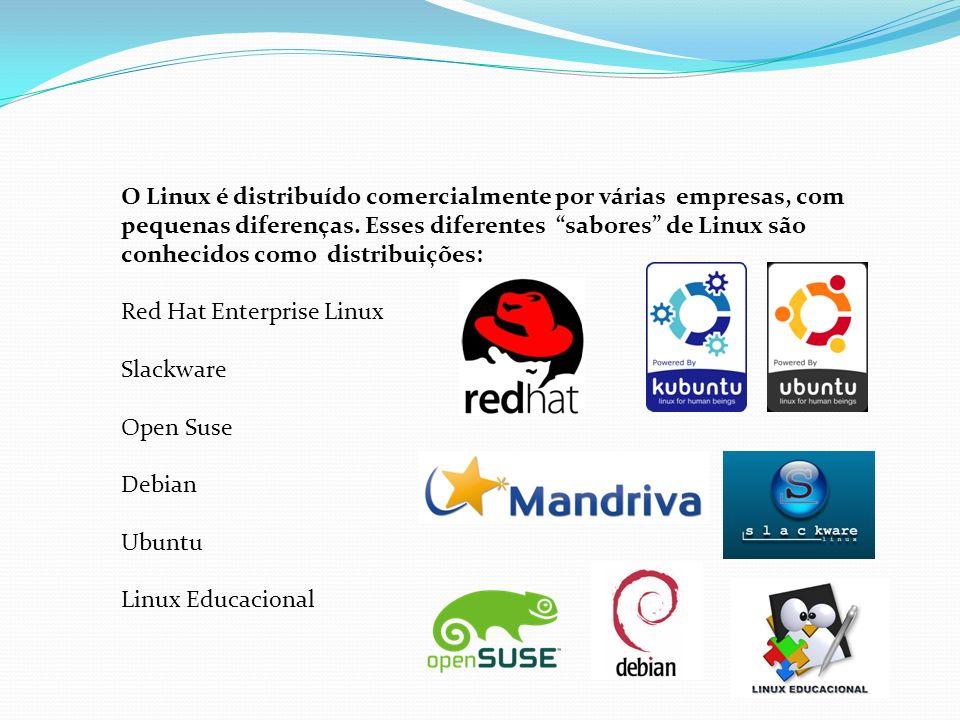 O Linux é distribuído comercialmente por várias empresas, com pequenas diferenças. Esses diferentes sabores de Linux são conhecidos como distribuições: