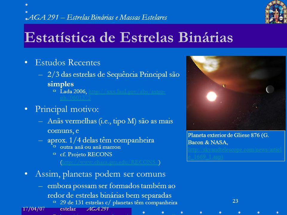 Estatística de Estrelas Binárias
