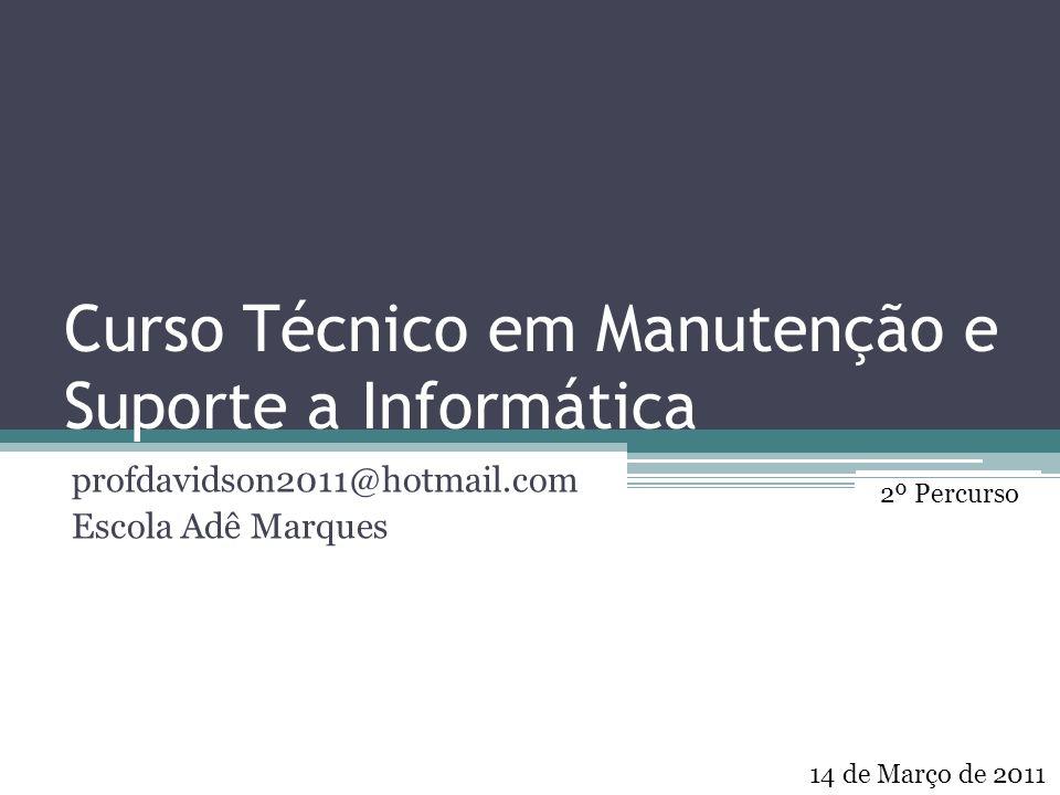 Curso Técnico em Manutenção e Suporte a Informática