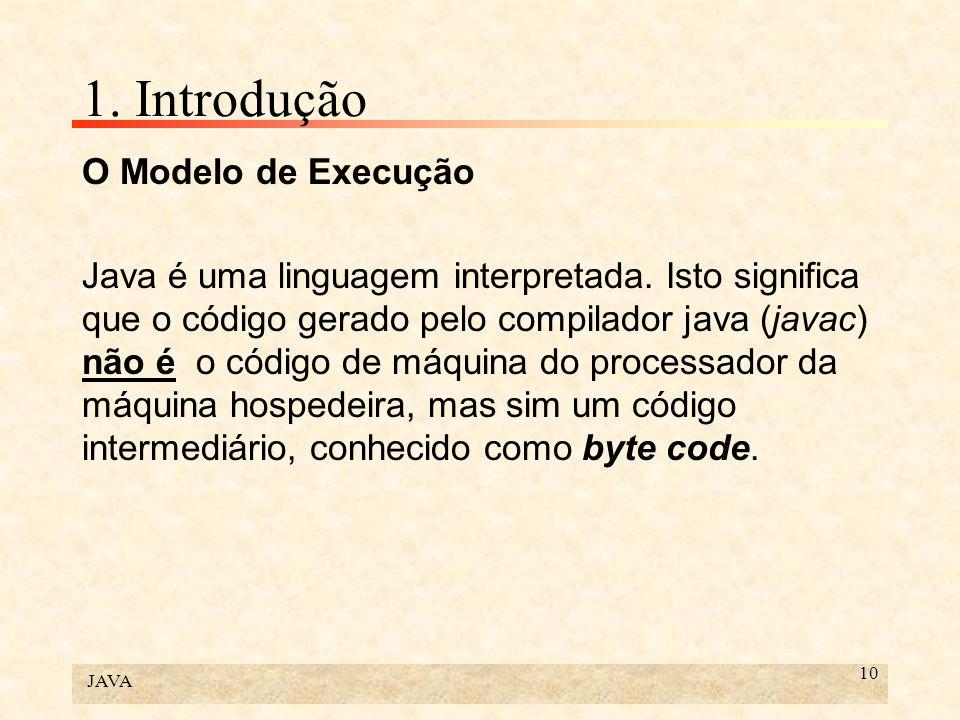 1. Introdução O Modelo de Execução