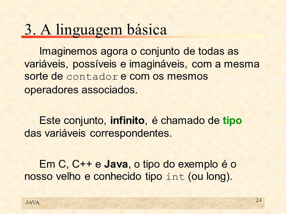 3. A linguagem básica