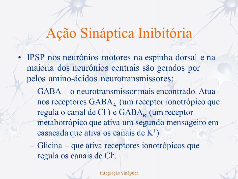 Ação Sináptica Inibitória