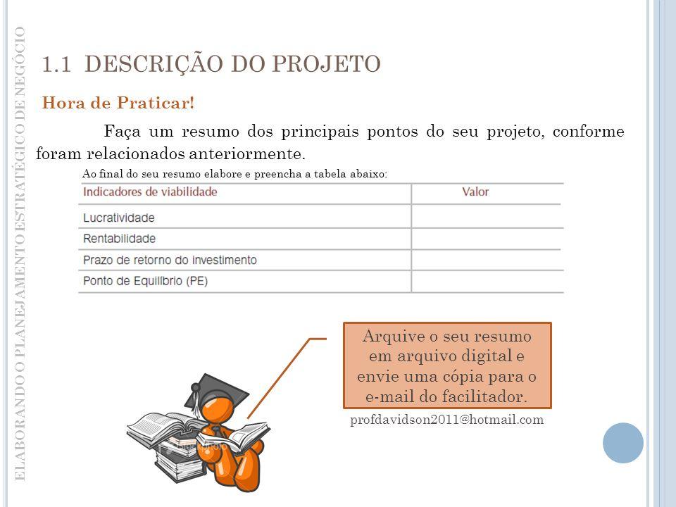 ELABORANDO O PLANEJAMENTO ESTRATÉGICO DE NEGÓCIO