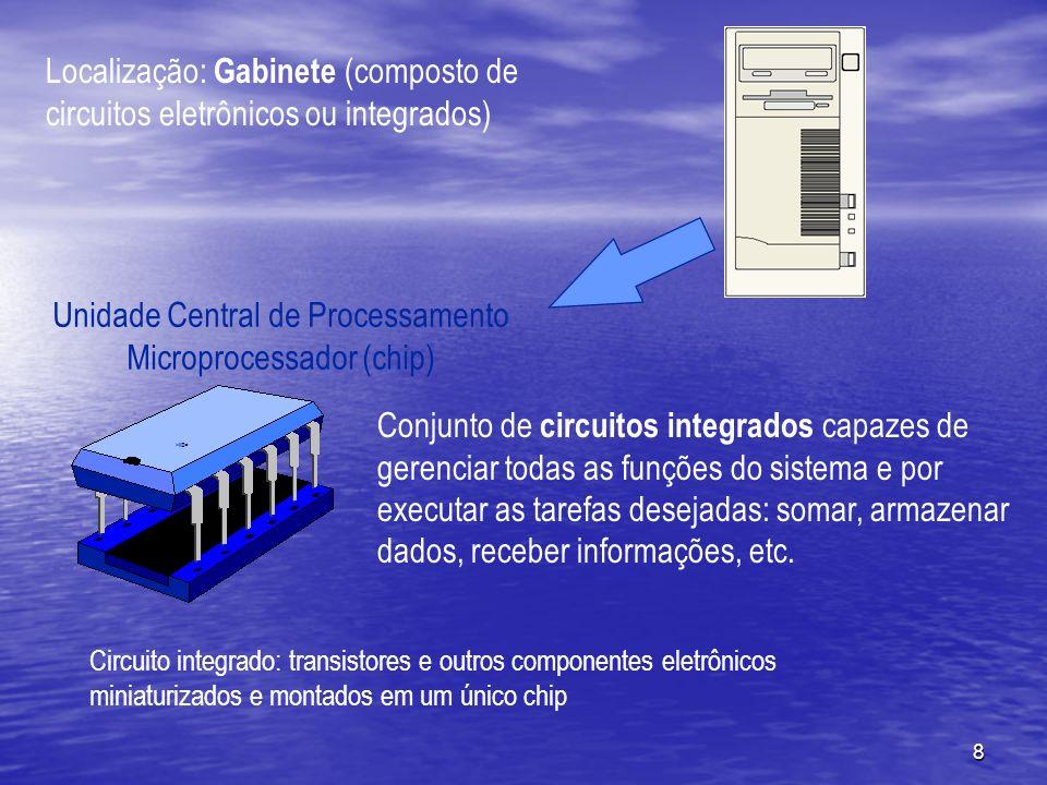 Unidade Central de Processamento Microprocessador (chip)