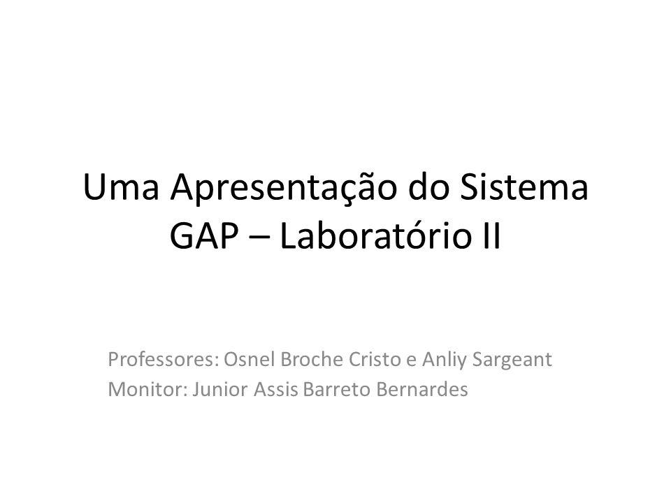 Uma Apresentação do Sistema GAP – Laboratório II
