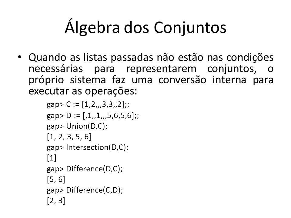 Álgebra dos Conjuntos