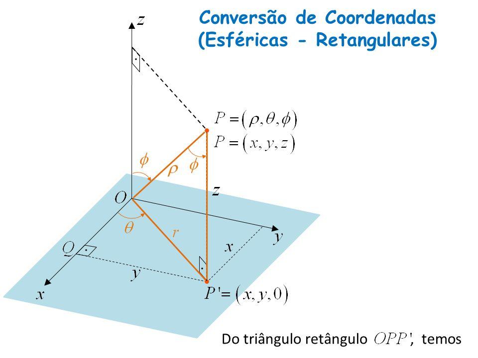 Conversão de Coordenadas (Esféricas - Retangulares)