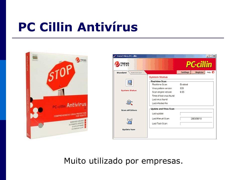 PC Cillin Antivírus Muito utilizado por empresas.
