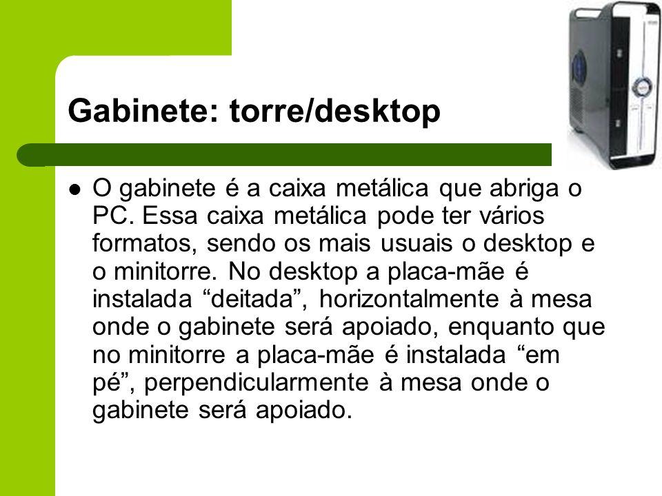 Gabinete: torre/desktop