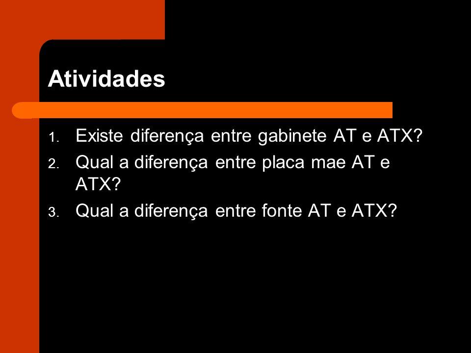 Atividades Existe diferença entre gabinete AT e ATX