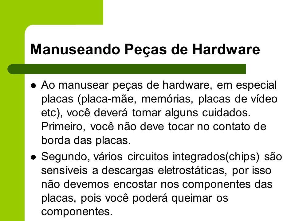 Manuseando Peças de Hardware