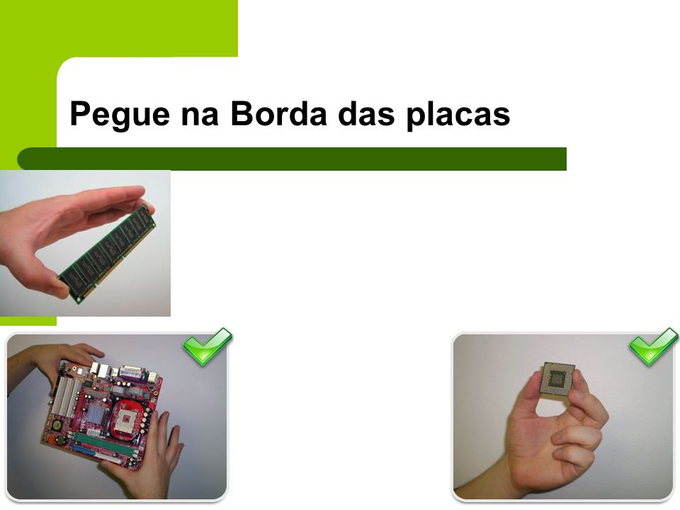 Pegue na Borda das placas