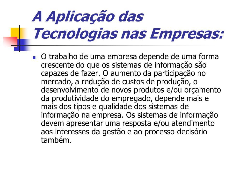 A Aplicação das Tecnologias nas Empresas: