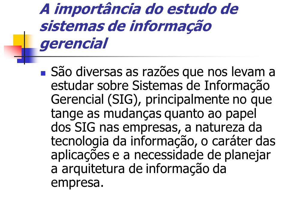 A importância do estudo de sistemas de informação gerencial