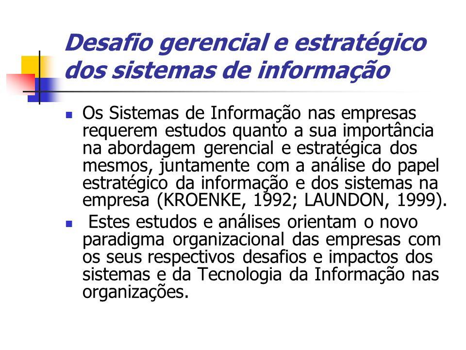 Desafio gerencial e estratégico dos sistemas de informação
