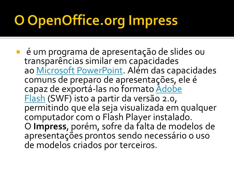 O OpenOffice.org Impress