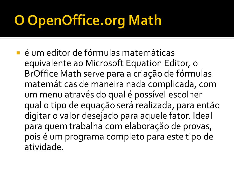 O OpenOffice.org Math