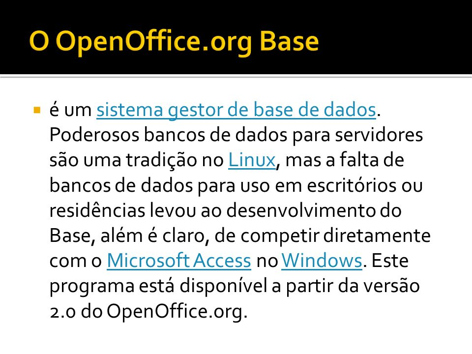 O OpenOffice.org Base