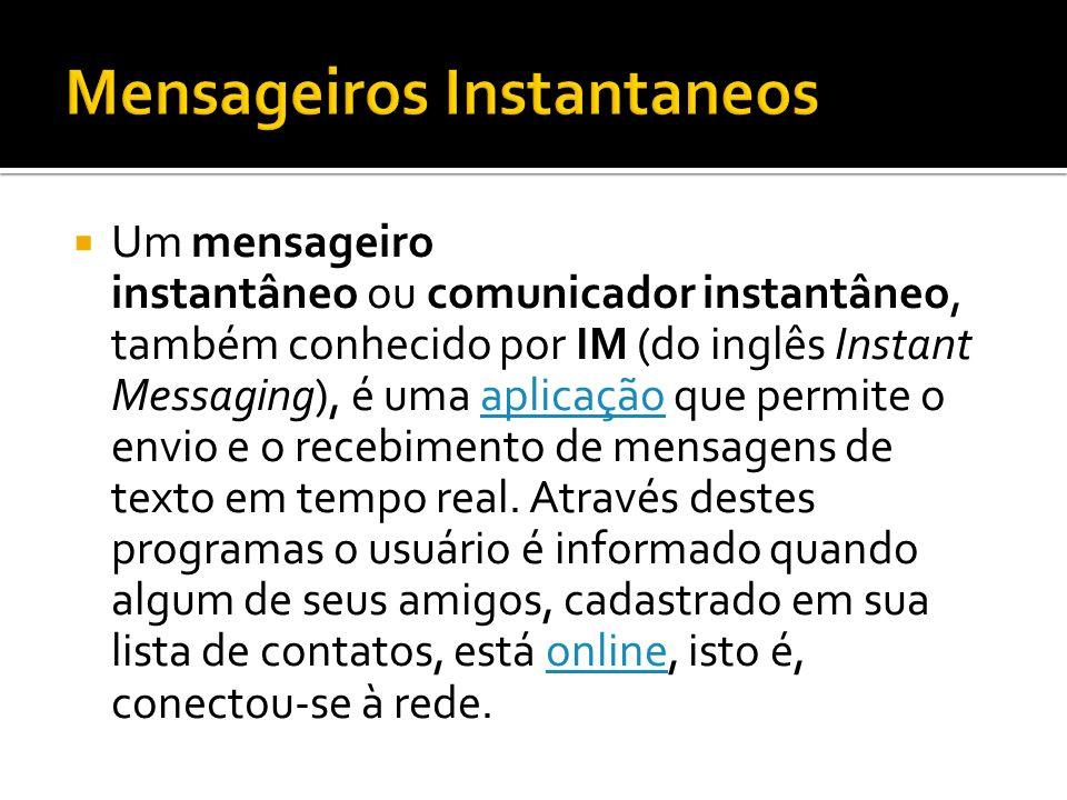 Mensageiros Instantaneos