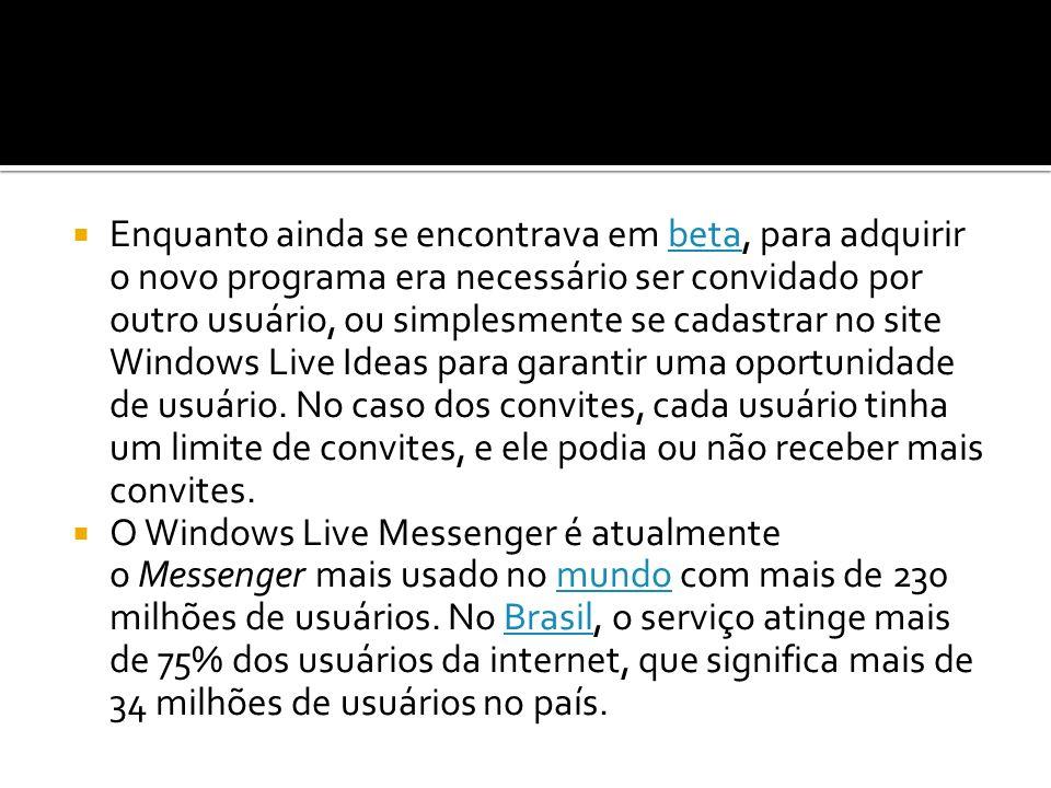 Enquanto ainda se encontrava em beta, para adquirir o novo programa era necessário ser convidado por outro usuário, ou simplesmente se cadastrar no site Windows Live Ideas para garantir uma oportunidade de usuário. No caso dos convites, cada usuário tinha um limite de convites, e ele podia ou não receber mais convites.