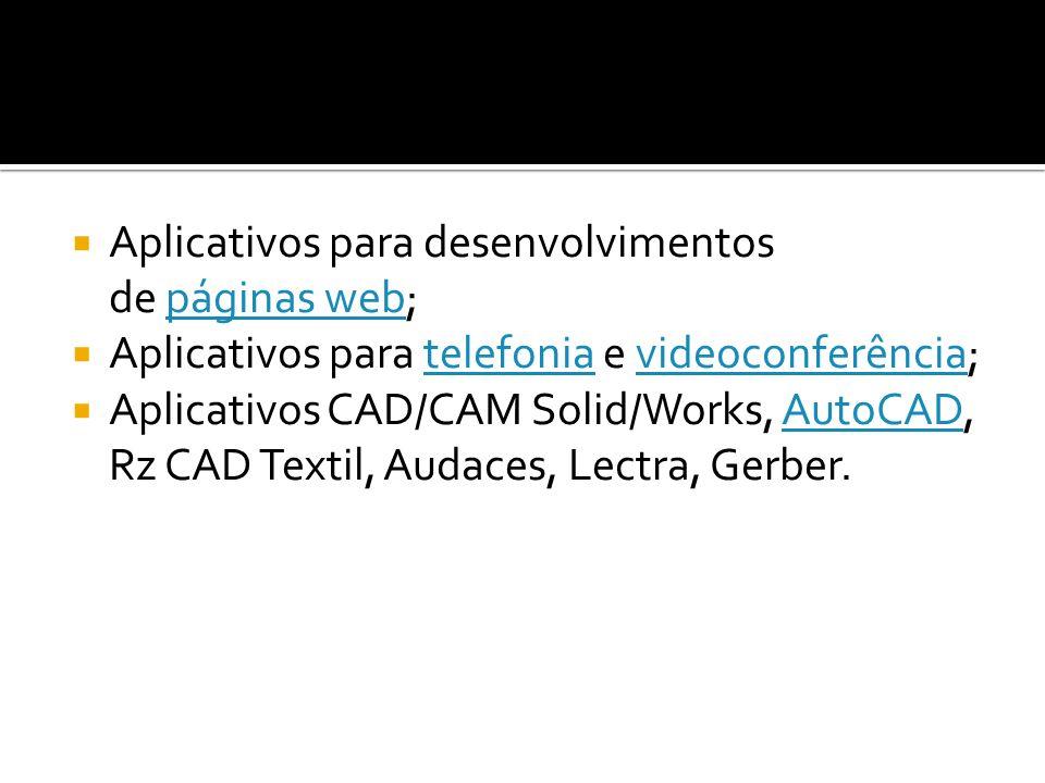 Aplicativos para desenvolvimentos de páginas web;