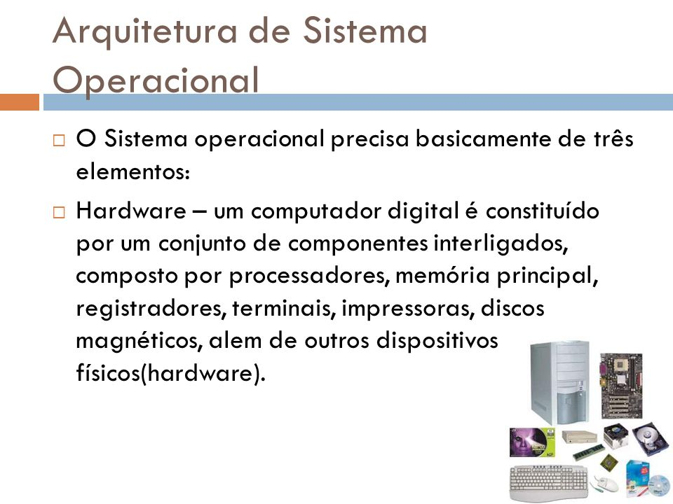 Arquitetura de Sistema Operacional